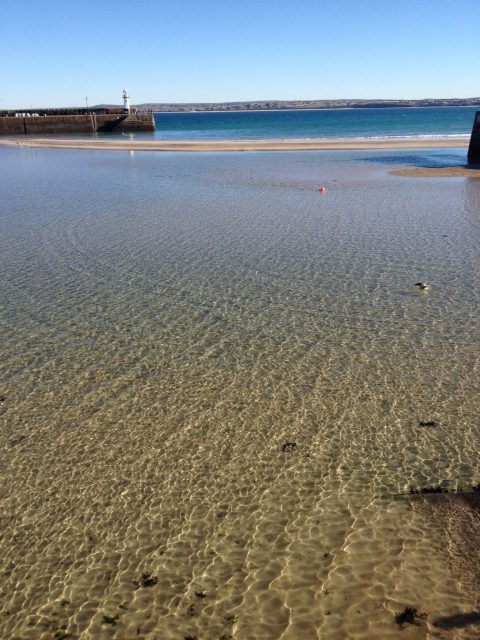 St Ives harbour Cornwall - approximately 7 miles away