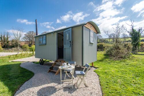 Godrevy Shepherds Hut accommodation Hayle